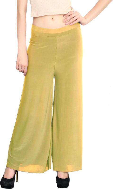 Elvin Regular Fit Women's Yellow Trousers