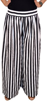 Saree Sparkle Regular Fit Women's Black, White Trousers