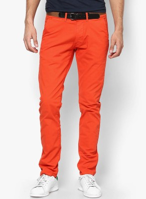 Jack & Jones Slim Fit Men's Red Trousers