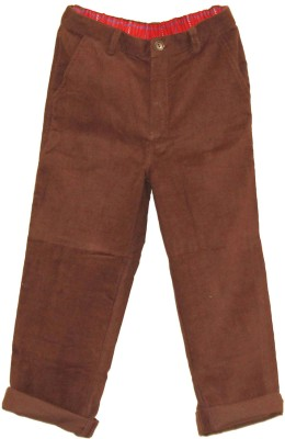My Little Lambs Regular Fit Baby Boys Brown Trousers