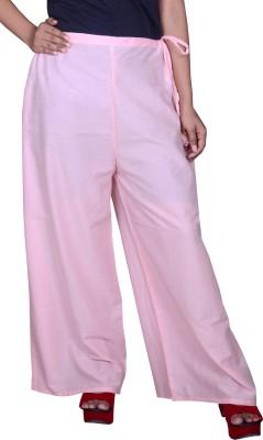 Pezzava Regular Fit Women's Pink Trousers