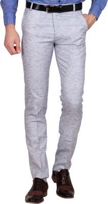 Shaurya-F Regular Fit Men's Linen White Trousers