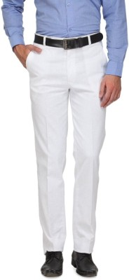 FranklinePlus Regular Fit Men,s White Trousers