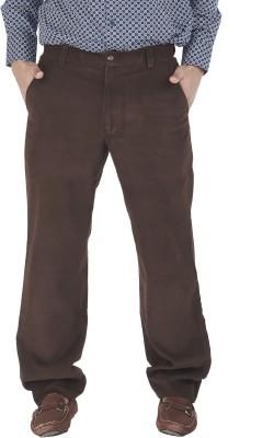 Silkina Regular Fit Men's Brown Trousers