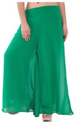 Edge Plus Regular Fit Women's Green Trousers