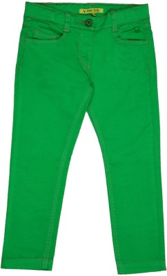 Allen Solly Regular Fit Girl's Green Trousers