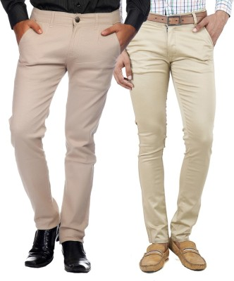 Rock Hudson Regular Fit Men's Beige, Cream Trousers
