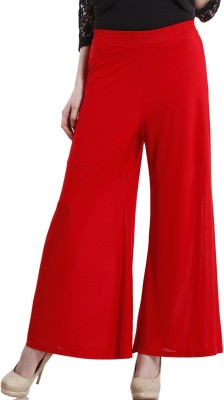Peptrends Regular Fit Women's Red Trousers