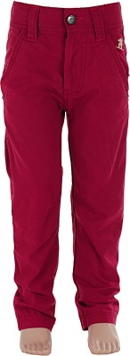 Ice Boys Regular Fit Boy's Red Trousers