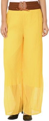Shahfali Regular Fit Women's Yellow Trousers