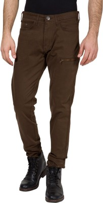 Locomotive Slim Fit Men's Brown Trousers