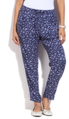 United Colors of Benetton Regular Fit Women's Blue Trousers at flipkart