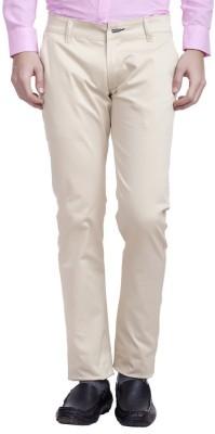 Nimegh Slim Fit Men's Cream Trousers