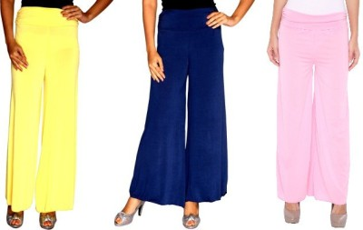 Zadine Regular Fit Women,s Yellow, Dark Blue, Pink Trousers