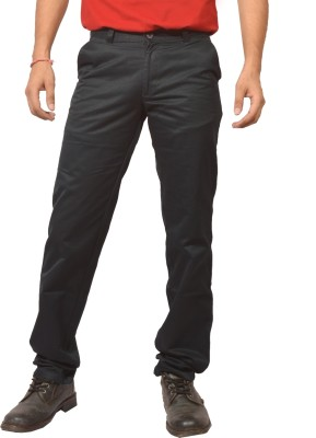 Louppee Regular Fit Men,s Black Trousers