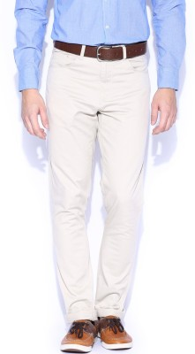 Mast & Harbour Slim Fit Men's Beige Trousers