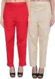 NumBrave Regular Fit Women's Red, Beige ...