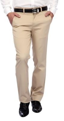 FRANK JEFFERSON Slim Fit Men's Beige Trousers
