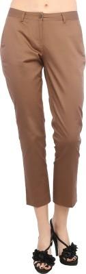 F Fashion Stylus Slim Fit Women,s Brown Trousers