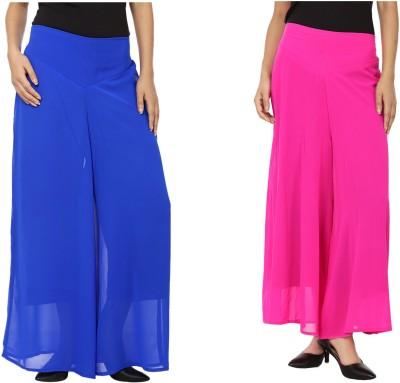 Lambency Regular Fit Women's Blue, Pink Trousers