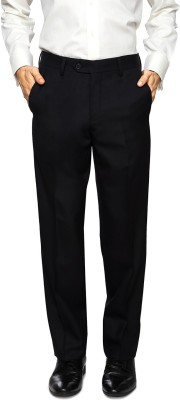 Van Heusen Regular Fit Men's Black Trousers