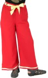 SSMITN Regular Fit Girls Red Trousers