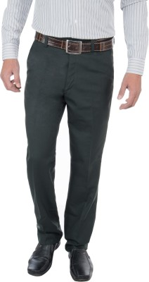 GreyBooze Slim Fit Men's Green Trousers