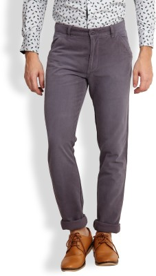 I-Voc Slim Fit Men's Grey Trousers