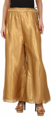 Pink n Lime Regular Fit Women's Gold Trousers