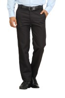 Feels Good Regular Fit Men's Black Trousers