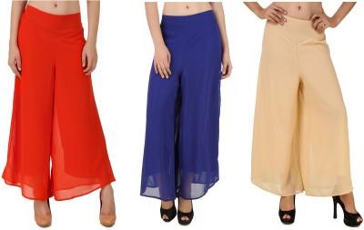 CHIKFAB Regular Fit Women's Blue, Orange, Beige Trousers
