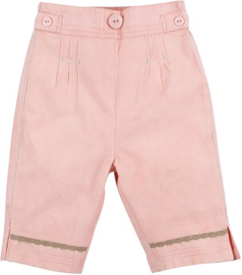 Mom & Me Regular Fit Baby Girl's Pink Trousers
