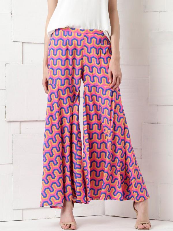 Masaba For Anouk Regular Fit Women's Multicolor Trousers