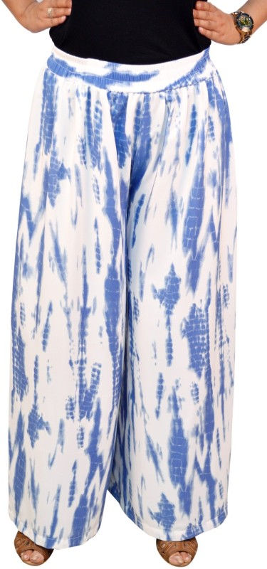 Saree Sparkle Regular Fit Women's White, Blue Trousers