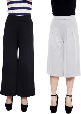 Rampwalk Regular Fit Women's Multicolor Trousers