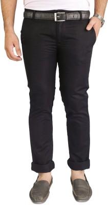 Blimey Slim Fit Men's Black Trousers