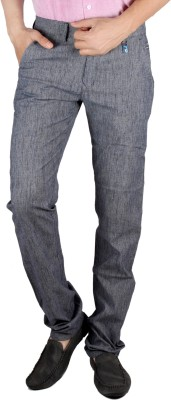 Coco Trend Slim Fit Men's Grey, Blue Trousers
