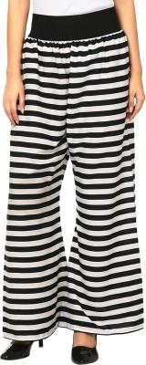 Natty India Regular Fit Women's Black, White Trousers