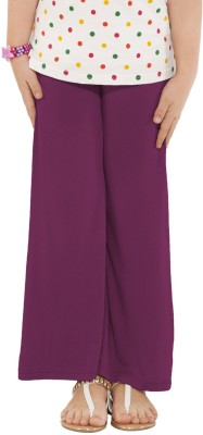 Go Colors Regular Fit Girl's Purple Trousers