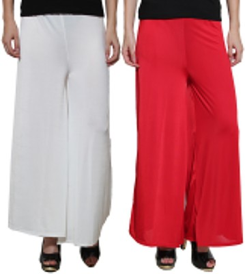 Both11 Regular Fit Women's Red, White Trousers