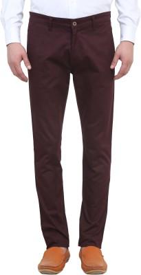 Colors Couture Slim Fit Men's Purple Trousers