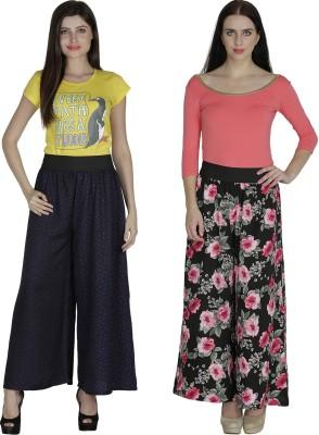 Shopingfever Regular Fit Women's Dark Blue, Black Trousers
