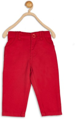 612 League Regular Fit Baby Boy's Red Trousers