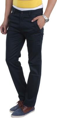 Makeover Slim Fit Men's Blue Trousers