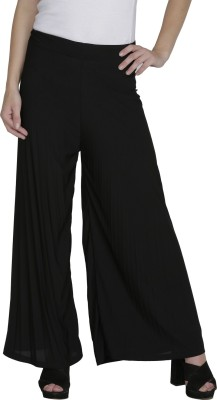Svt Ada Collections Regular Fit Women's Black Trousers