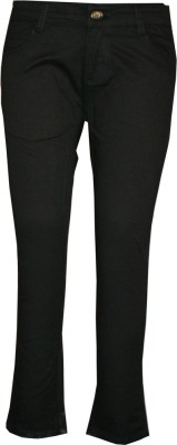 Posh Kids Slim Fit Girl's Black Trousers