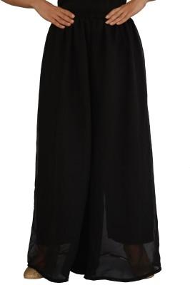 Jupi Regular Fit Women,s Black Trousers