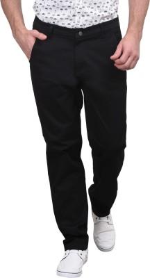 Srota Slim Fit Men's Black Trousers