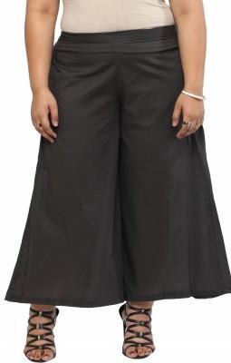 kira plus Regular Fit Women's Grey Trousers