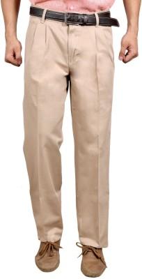 Studio Nexx Regular Fit Men's Cream Trousers